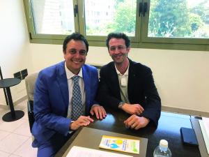 L'Avv. Furio Suvilla con l'Assessore Matteo Lanfranco Mirabelli