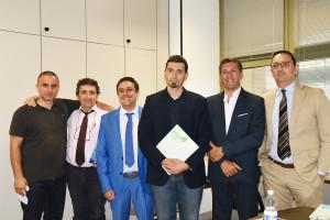 Da sinistra: Andrea Scaglia, Marino Piasentà, Furio Suvilla, Andrea Sala, Riccardo Ghia e Gianluca Zorzoli